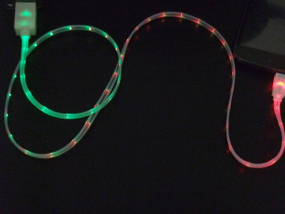 Fashion Taichi Colorful Best Visible LED Light USB Data Sync transfer Charger Charging Cable Wire