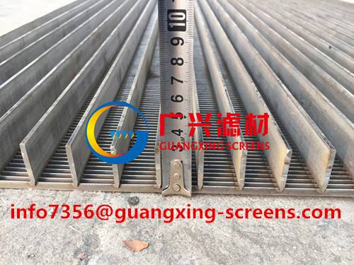 Flat panel Wedge Wire Screen