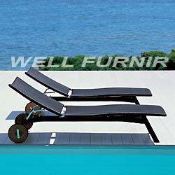 Well Furnir Company Limited Supply Rattan Wicker Chaise Lounge WF-8004