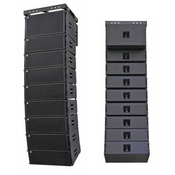 professional audio equipment dual 10 inch powered line arrays