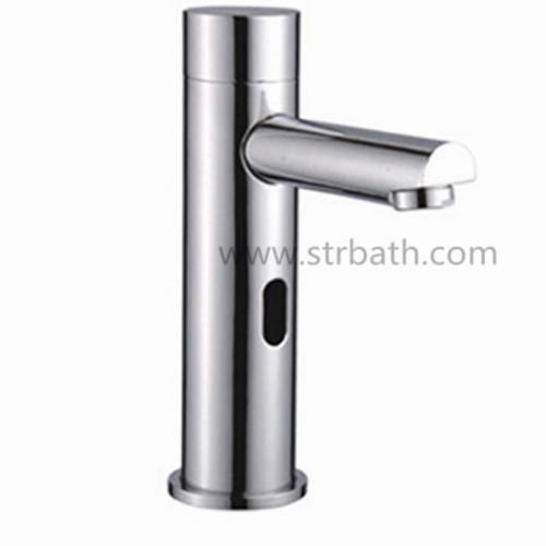 Bathroom Basin Brass Chrome Plating Automatic Infrared Sensor Faucet