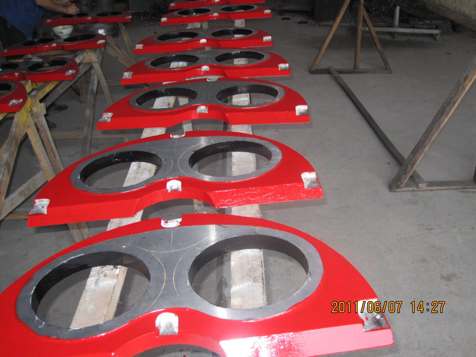 Concrete Pump Spare Parts SERMAC Wear Plate and Cutting Ring DN200