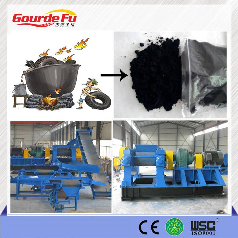 waste recycle line scrap tyres recycling machine