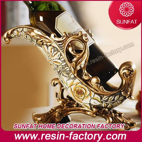 Home furniture accessories resin wine holder art craft
