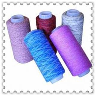Acrylic yarn for weaving on plastic cone