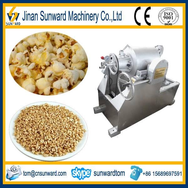 Stainless steel gas popcorn machine