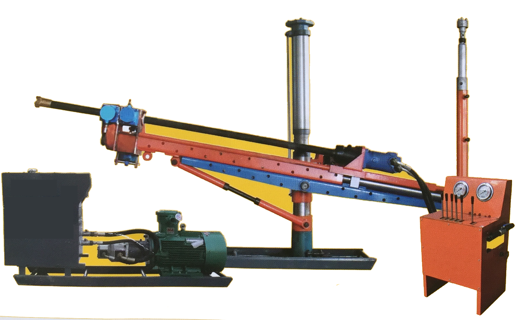 ZYJ-1000/135 Hydraulic drilling rig with post for exploration and blasting hole drilling