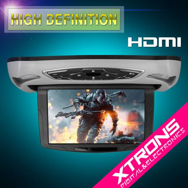10.1 HD Digital TFT Flipdown Roof Mounted DVD Player with HDMI Input