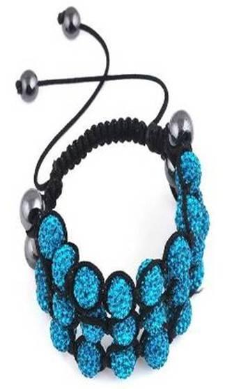 Sell Black Bluestone Soil Rhinestone Resin Bead Bracelet,fashion jewelry