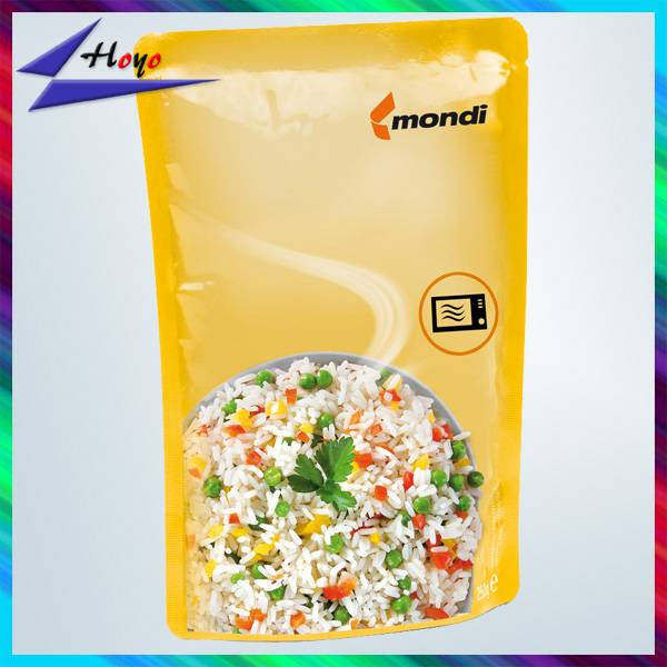 Manufacture Plastic food packaging pouch with zipper top