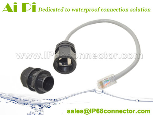 Waterproof RJ45 Connector With Cable