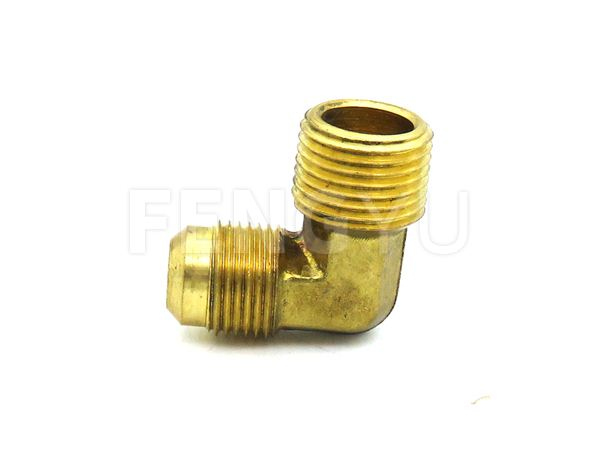 Brass male thread x male flare elbow (free lead brass)