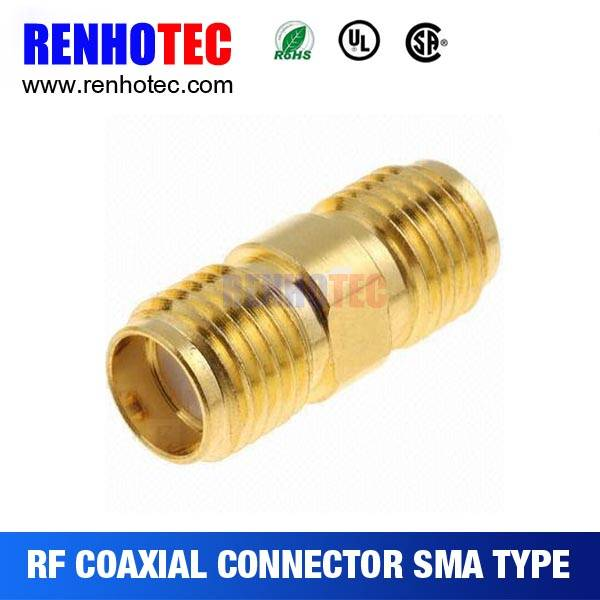 SMA Female to SMA Female Plug Coax Adaptor with gold plated contacts