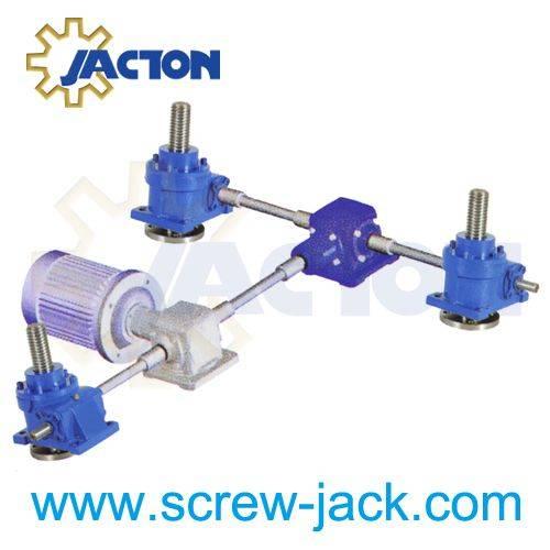 complete worm gear screw jack system,worm gear machine screw jack system