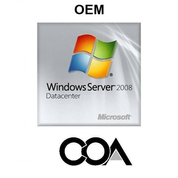 Microsoft Windows Server 2008 DataCenter OEM COA Sticker