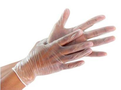 Clear color disposable Vinyl gloves , PVC gloves power free