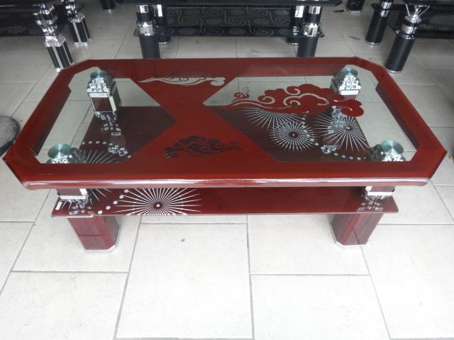 Four side bending glass tables