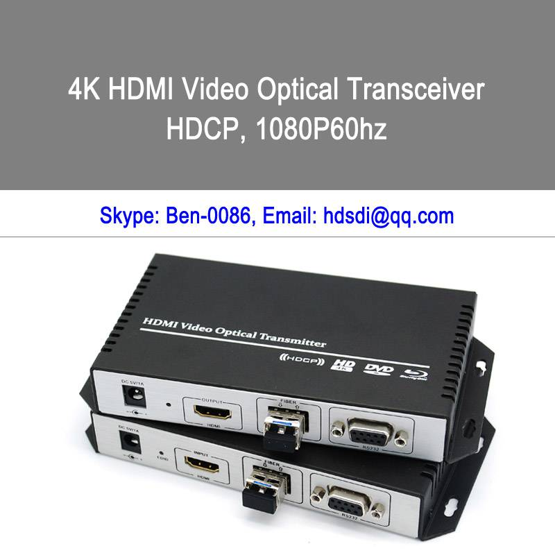 4k HDMI to Fiber converter and extender