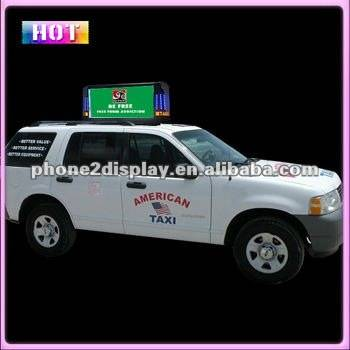 taxi top led billboard led taxi trivision display billboard