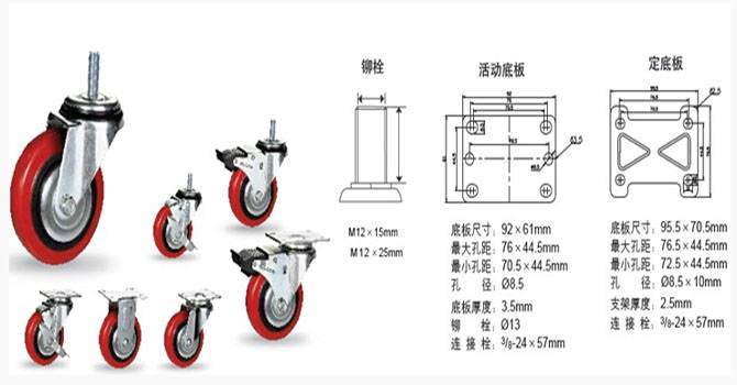 Polyurethane industrial casters made in china