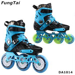 Men Street Slalon 110mm Wheels Inline Skate Shoes 4 Wheels Speed Skate 2 In 1 Roller Patin (DA1014)