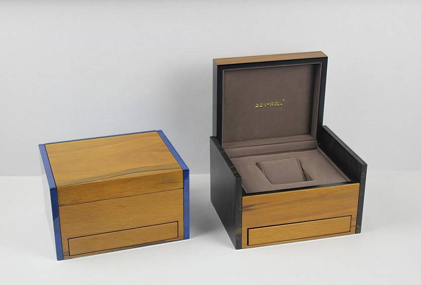 wooden watch box with portable drawer