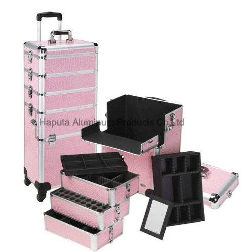 4 in 1 Design Professional Rolling Makeup Case