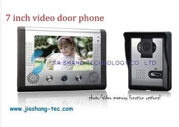 7 inch video door phone intercom door bell door entry system