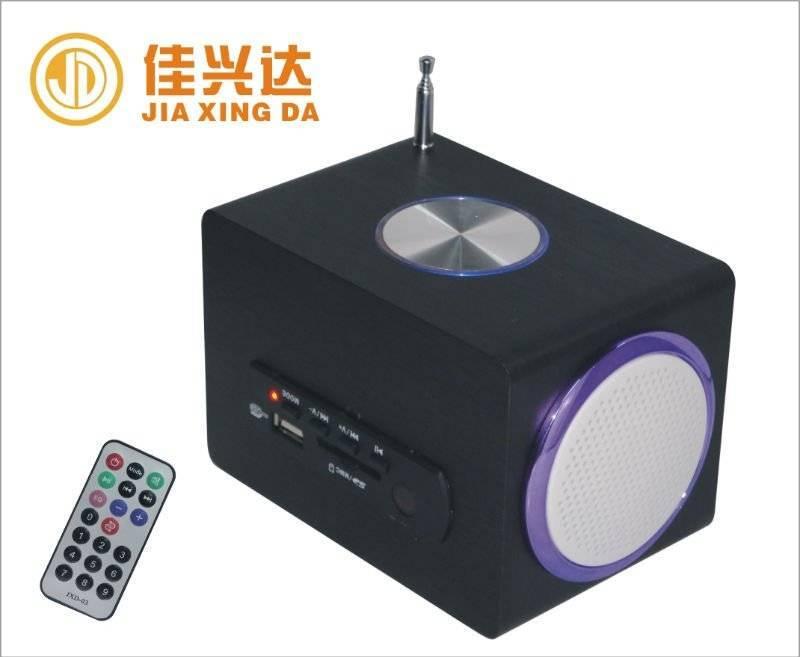 JD-001 wooden mini sound box speaker