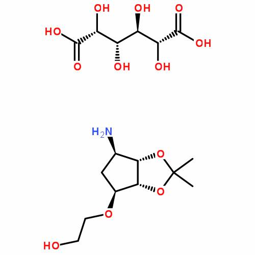 2-((3aR,4S,6R,6aS)-6-amino-2,2-dimethyltetrahydro-3aH-cyclopenta[d][1,3]dioxol-4-yloxy)ethanol L-tat