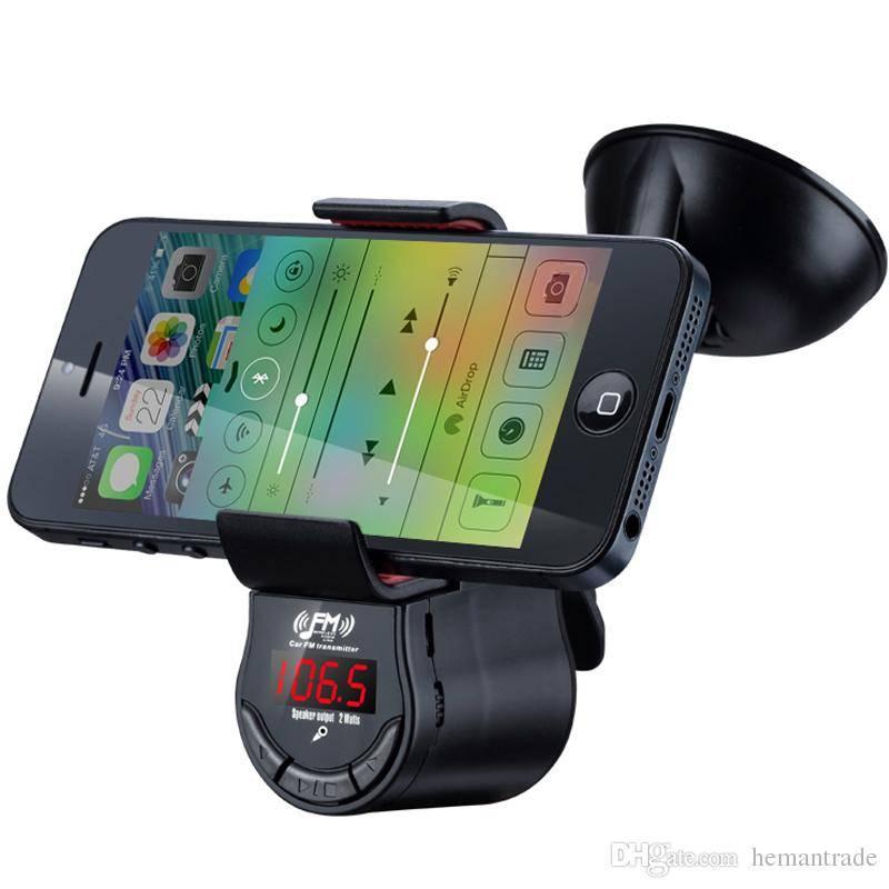 Car GPS Game holder Mobile Phones Handsfree Car Kit Speaker MP3 FM Transmitter