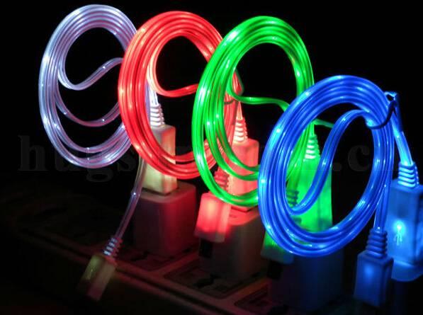 Shinning led micro usb cable