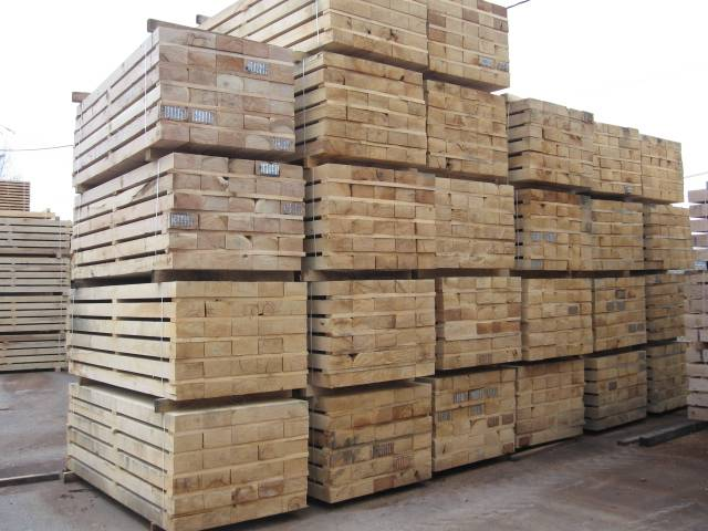 Railway sleepers and landscaping materials