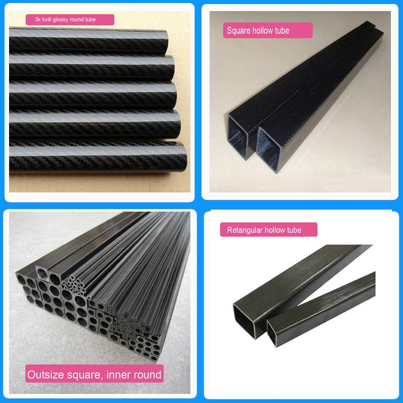 3k plain twill pultruded uni-direction Carbon Fiber tube, pipe, CFP tube for frames, trusses, and re