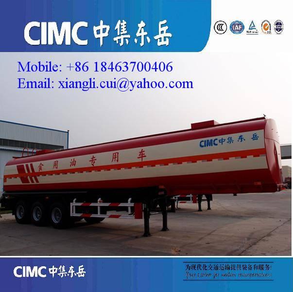 3 axles 50000 liters fuel tanker trailer
