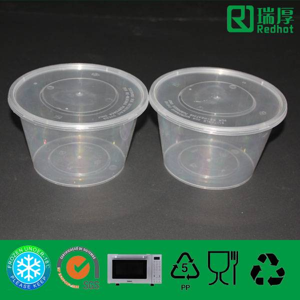 Two Compartments Plastic PP Food Container 1000ml