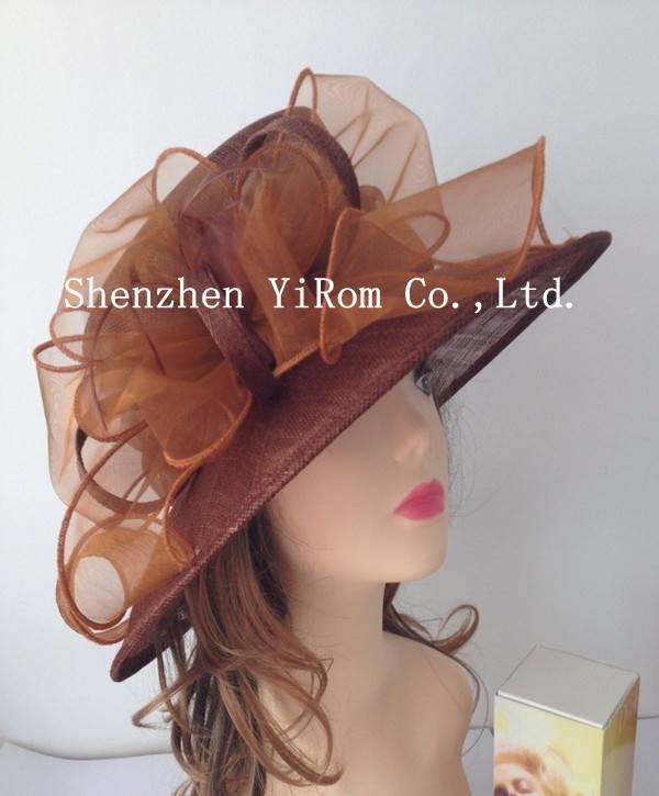YRSM14007 derby hat, sinamay hat, organza hat,church hat,occasion hat