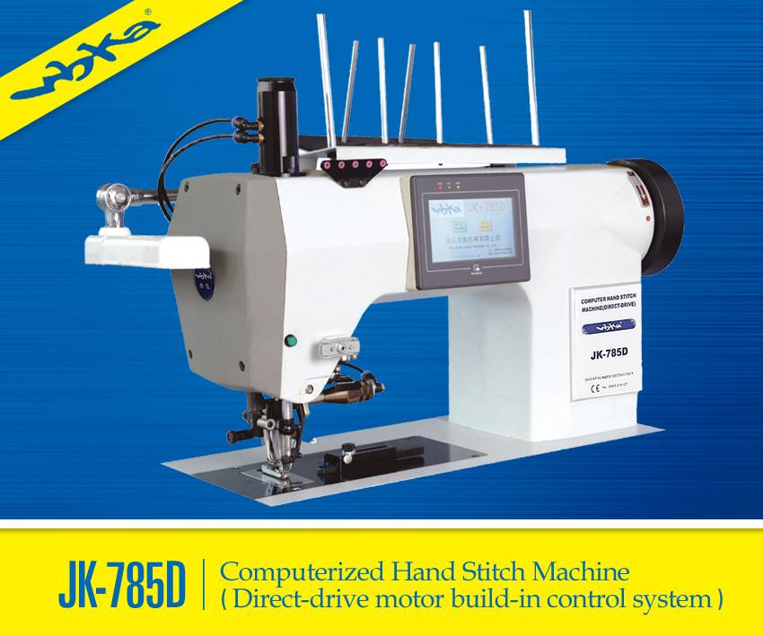 JIEKAI High speed In-set motor /Direct Drive Computerized Hand Stitch Industrial Sewing Machine