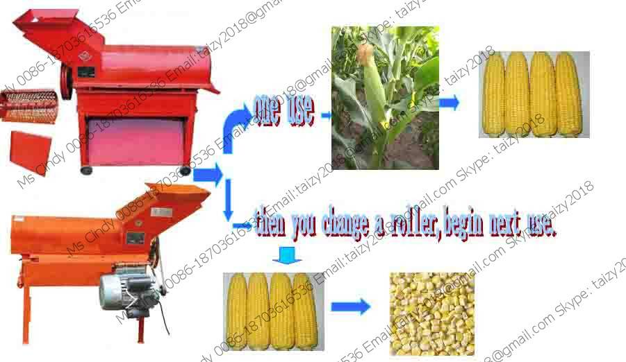 Best selling corn sheller and thresher with low price 0086-18703616536