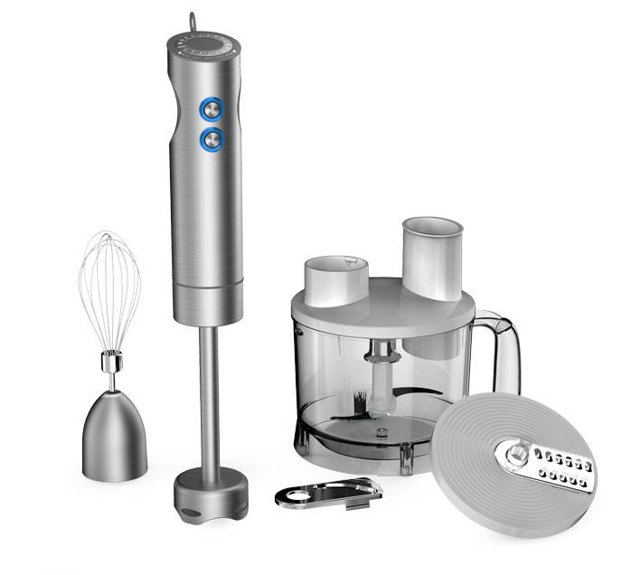 HB102 Stanless Steel Slim Hand Blender Stick Blender Immersion Blender