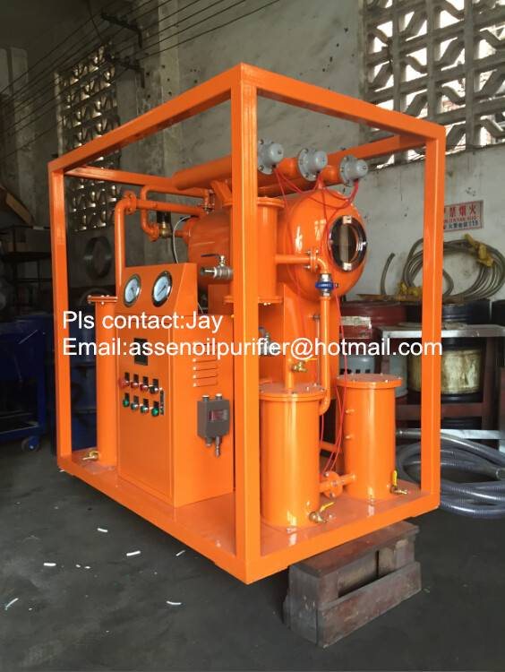 High performance portable insulating oil filtering plant/transformer oil filtration unit