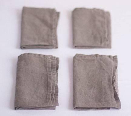Stone washed linen napkin