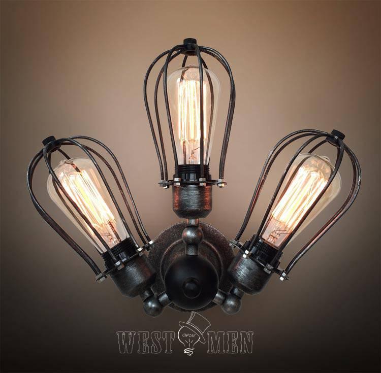 Adjustable vintage Industrial Steampunk wall lamp steel sconce
