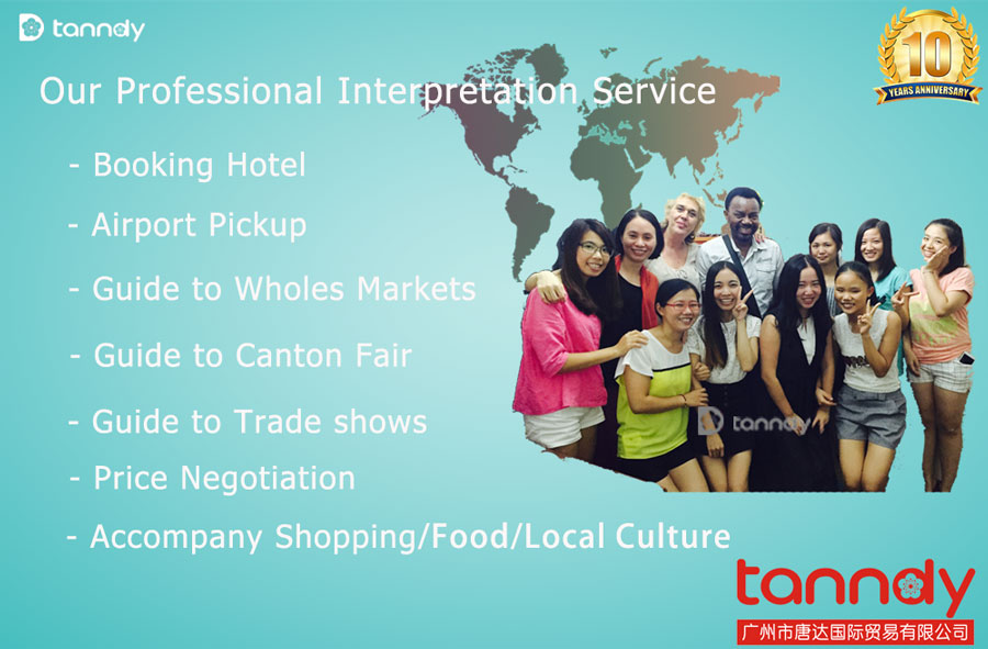 Professional China Guangzhou Market Interpreter Trade show translator