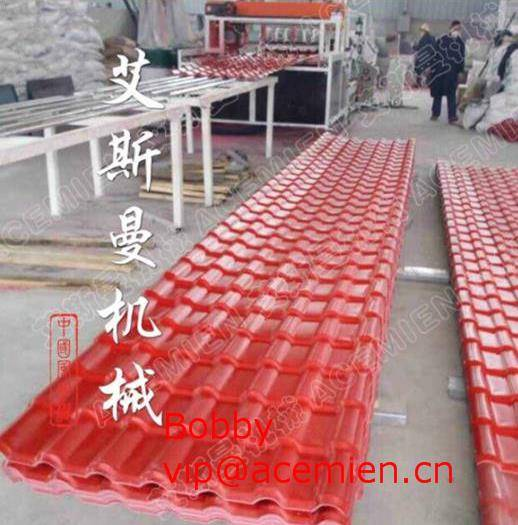 1040mm Synthetic resin tile extrusion machinery