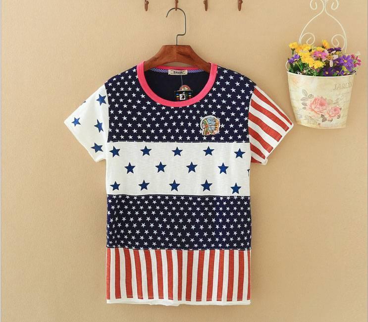 2015 New Lady Star Short SleeveT-Shirt