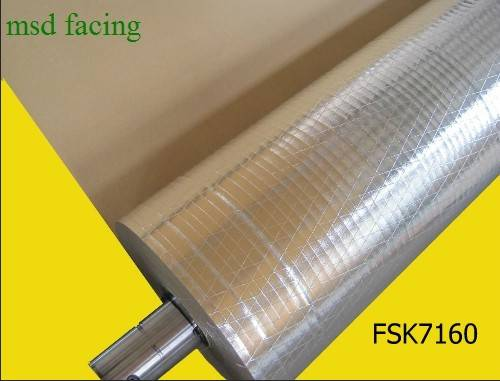 Manufacturer of Aluminum Foil Laminated to Kraft (FSK7160)
