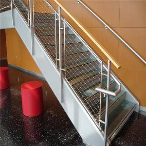 X-Tend Stainless Steel Wire Rope Net For Staircase Safety