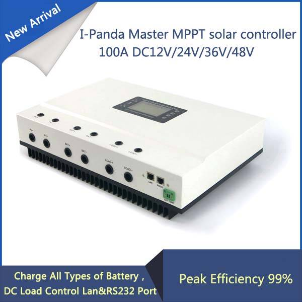 100A MPPT Solar Charge Controller with High Intelligent Auto Sensing DC12V 24V 36V 48V System and RS