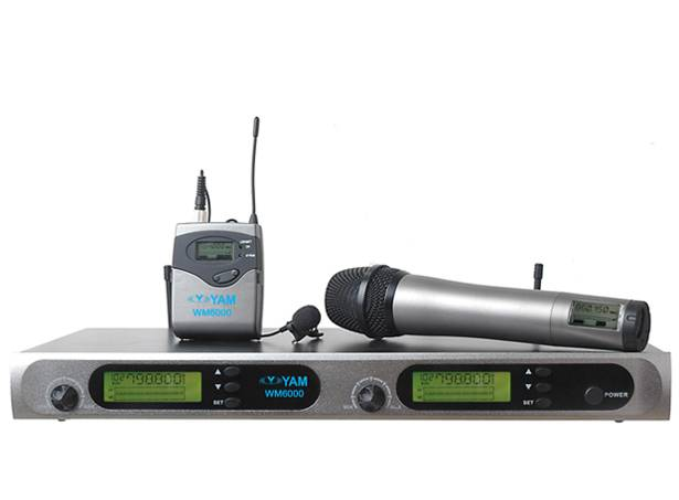 Yam Wm6000 Dual Channels Wireless Microphone UHF Wireless System